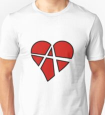 Anarchist Heart Red Unisex T-Shirt