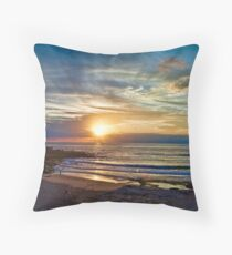 Maroubra sunrise Throw Pillow
