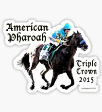 American Pharoah Triple Crown 2015 Sticker