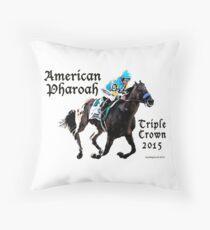 American Pharoah Triple Crown 2015 Throw Pillow