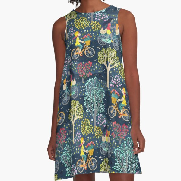 cycling in the night A-Line Dress