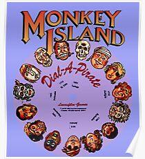 THE SECRET OF MONKEY ISLAND - DISC PASSWORD Poster