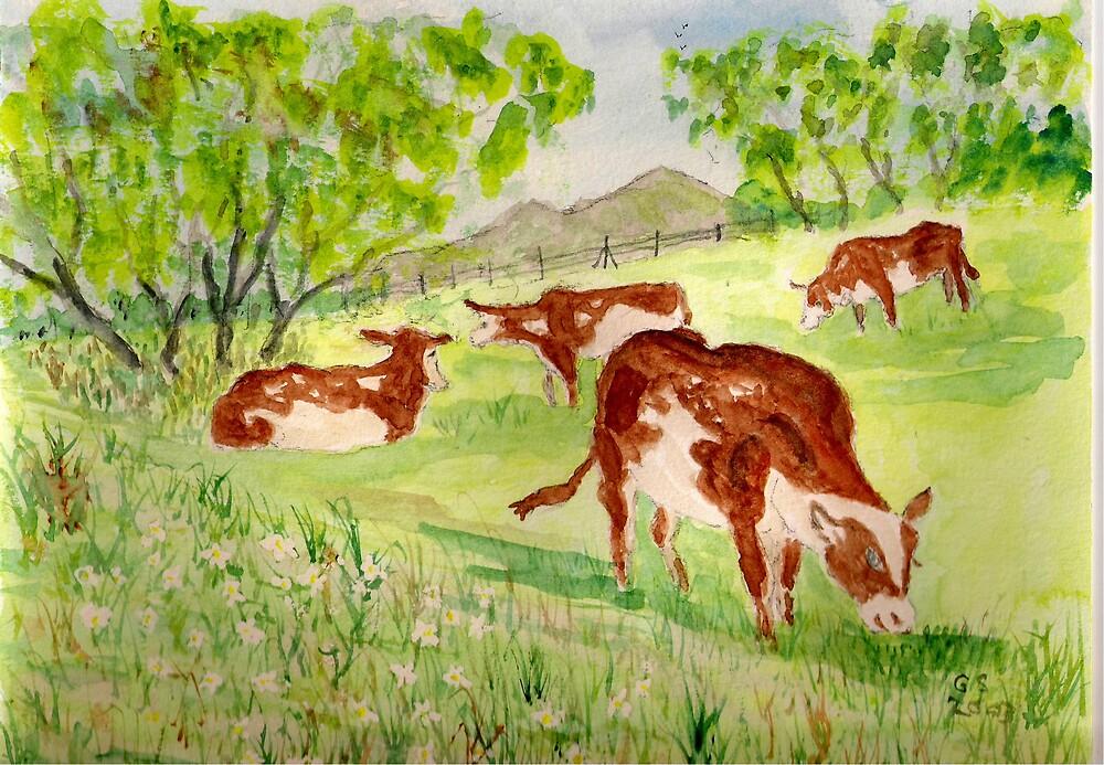 The Dairy Herd by GEORGE SANDERSON