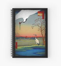 Chinese Cranes in the Sunset Spiral Notebook