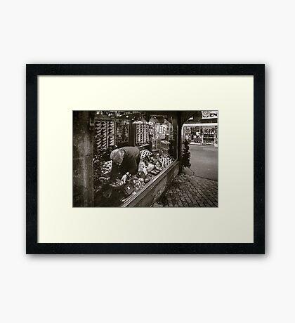 the tobacconist Framed Print
