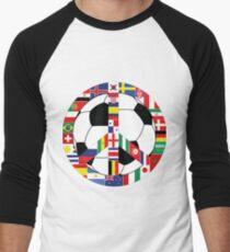 Football World Cup 2018 Men's Baseball ¾ T-Shirt