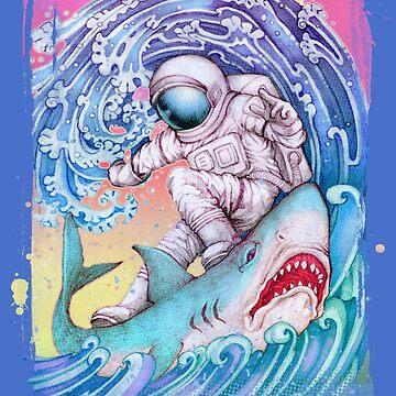 Shark Surfer by Villainmazk