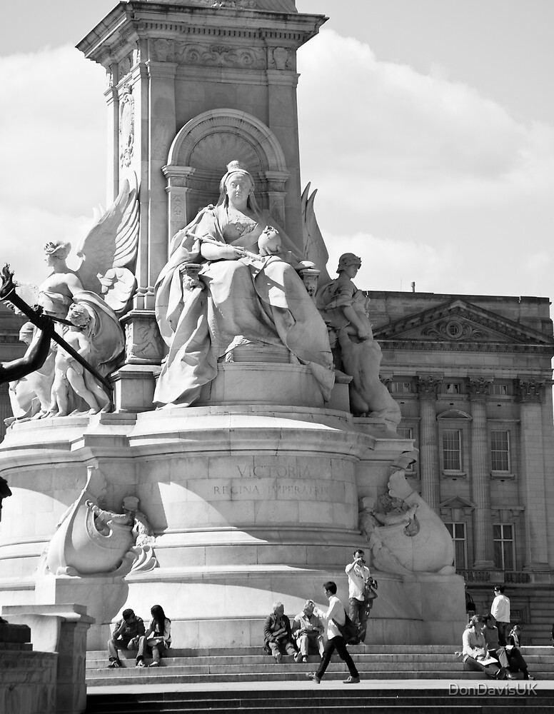 Queen Victoria Monument B&W Detail by DonDavisUK