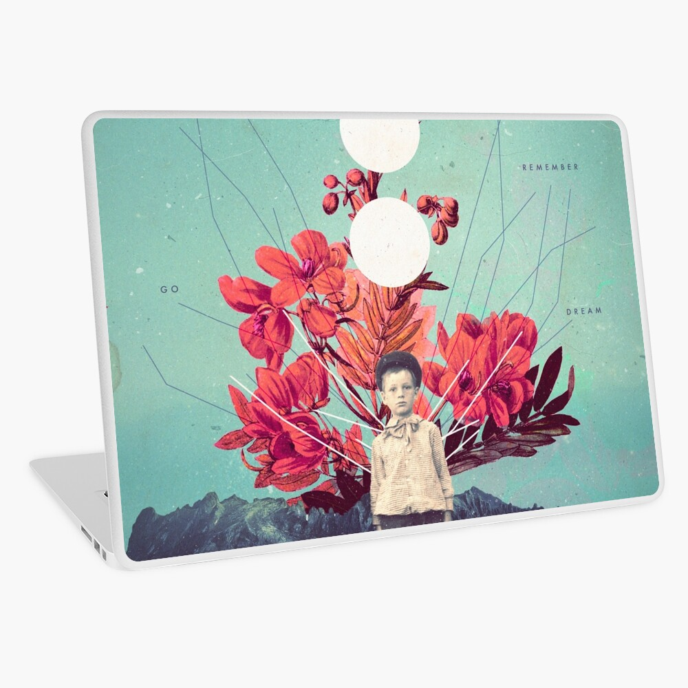 Standing at the Threshold of Time Laptop Skin