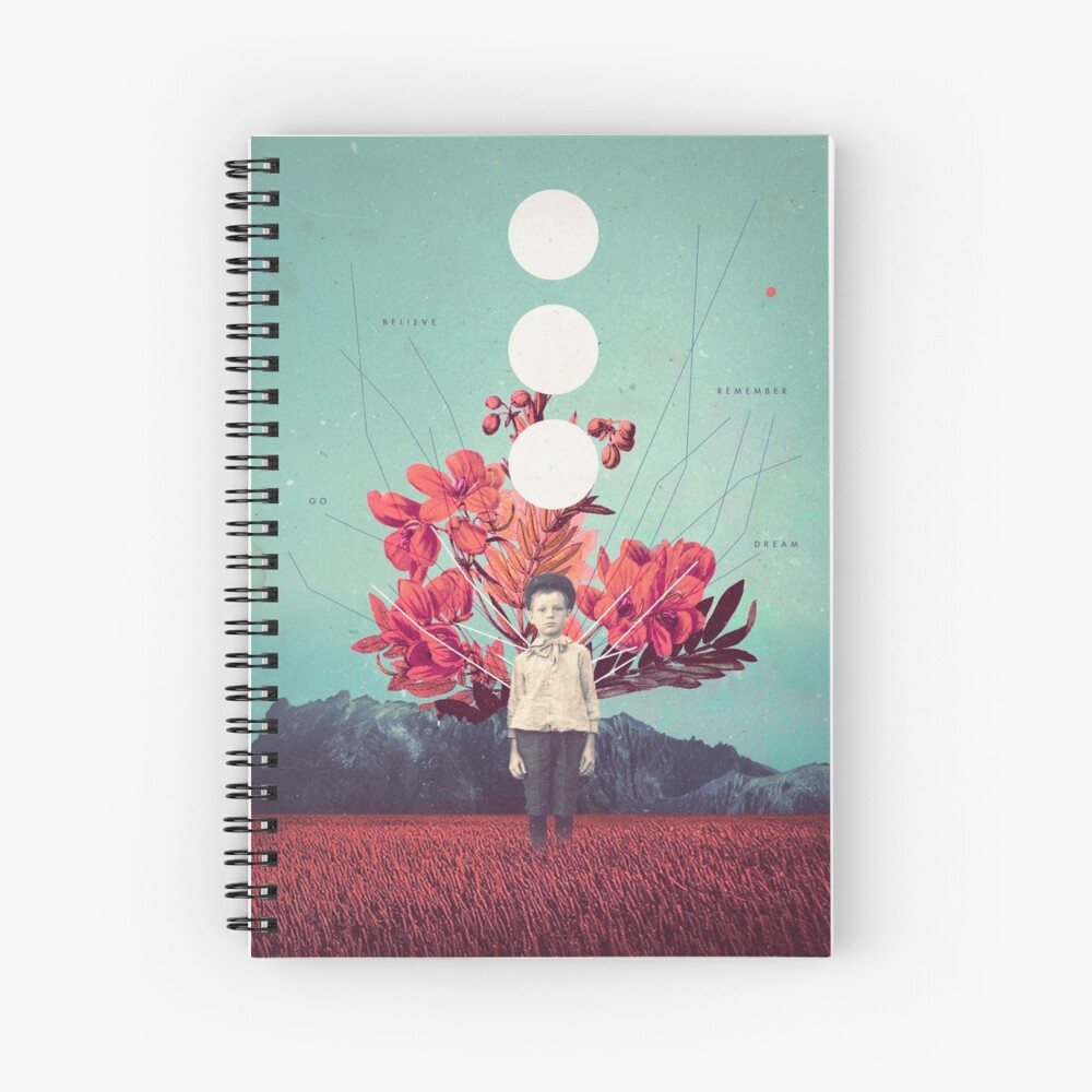 Standing at the Threshold of Time Spiral Notebook