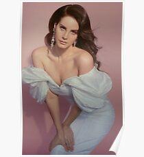 lana del rey - pink background Poster