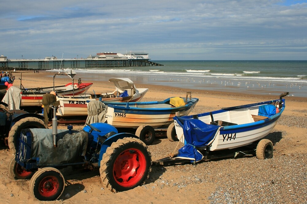 Crab boats, Cromer pier North Norfolk by Paul Pasco