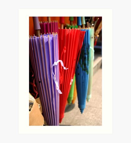 Chinese umbrellas Art Print