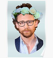 Tom Hiddleston Flower Crown Poster