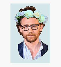 Tom Hiddleston Flower Crown Photographic Print