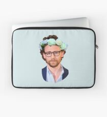 Tom Hiddleston Flower Crown Laptop Sleeve