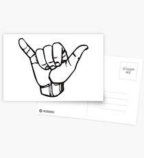 Gnarly Hand Sign Bodacious Postcards