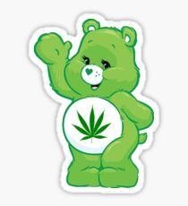 weed carebear stoner  Sticker