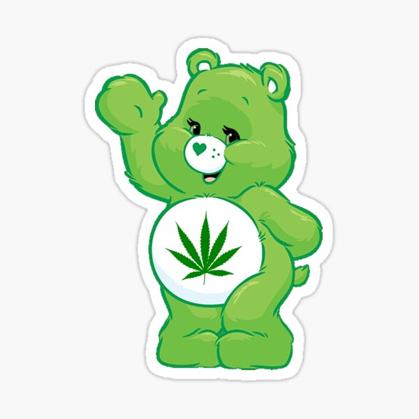 weed carebear stoner  Sticker