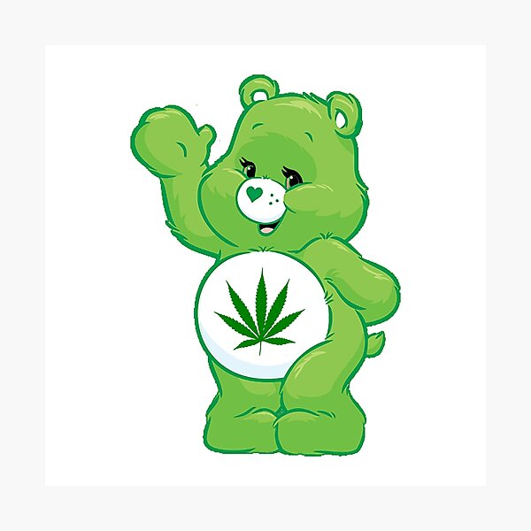 weed carebear stoner  Photographic Print