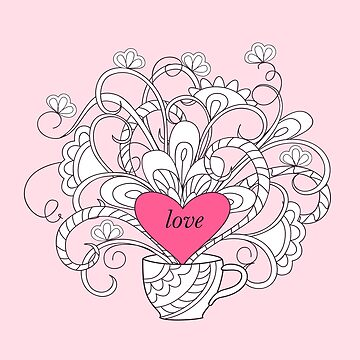 rlowers in cup with love by AlinNova