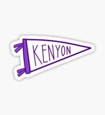 kenyon college flag Sticker