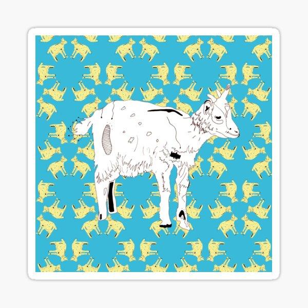 Kaleidoscope Goat Sticker