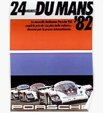 24hs Le Mans, 1982, originales Vintage-Poster Poster