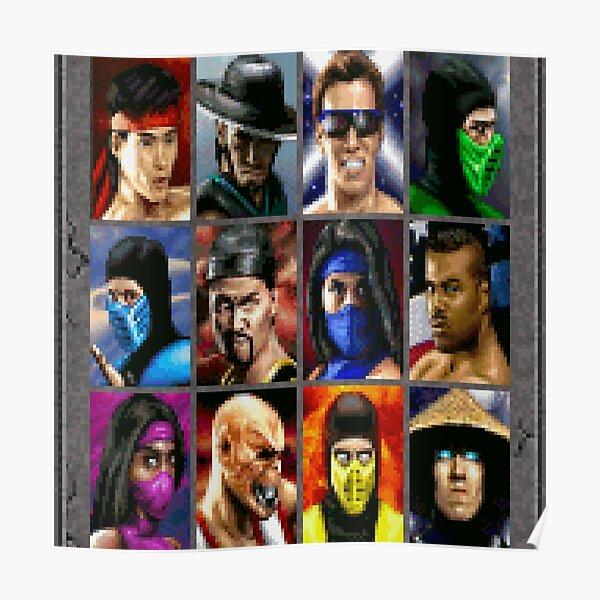 Mortal Kombat II SNES Character Select Poster