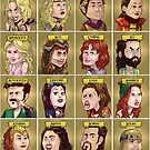Xena: Warrior Princess Characters by Arkie Ring