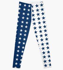 38275b234 Blue & White College leggings Leggings