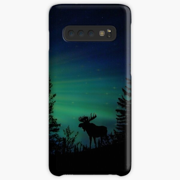 Moose with Northern Lights Samsung Galaxy Snap Case