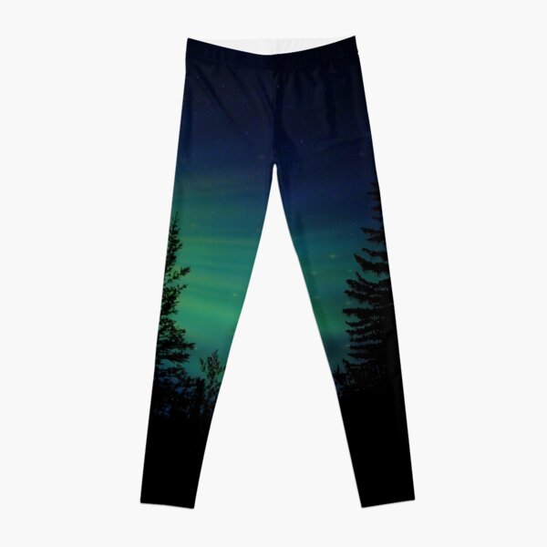 Moose with Northern Lights Leggings