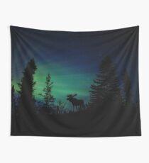 Elch mit Nordlichtern Wandbehang