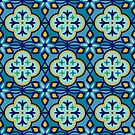 Moroccan Tile in Blue Hues by latheandquill