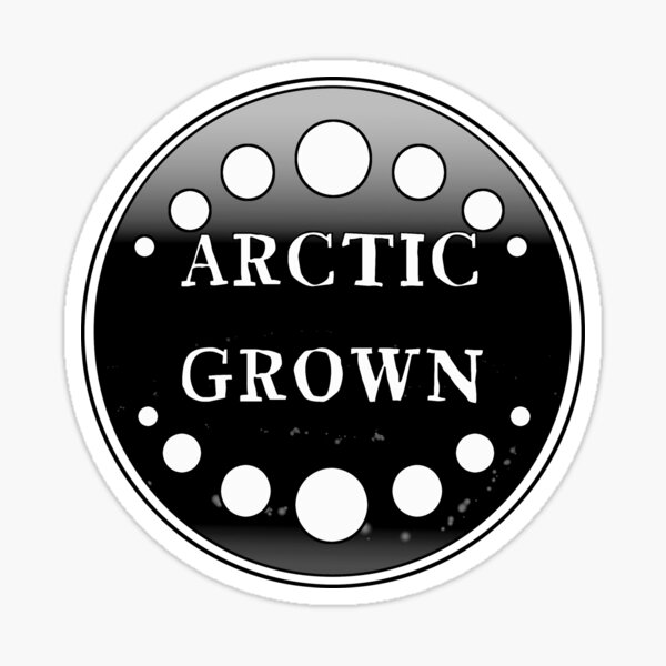 Arctic Grown in Black/white Sticker