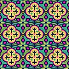 Colorful Inspired Moroccan Tile Pattern by latheandquill