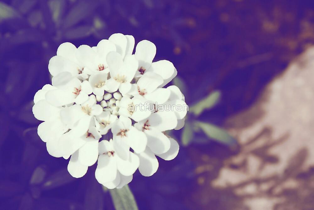 Tiny White Flower by artfulauren