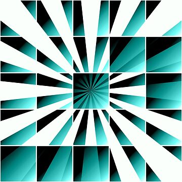 Abstract geometric turquoise by gavila