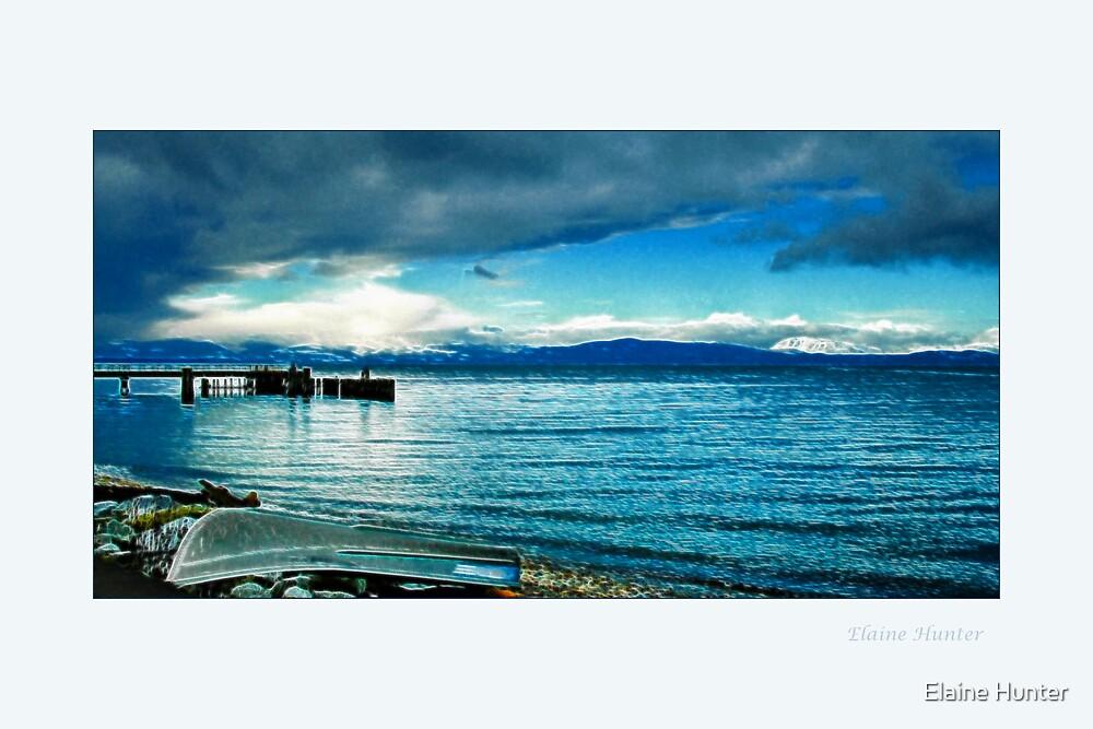 Davis Bay Pier by Elaine Hunter