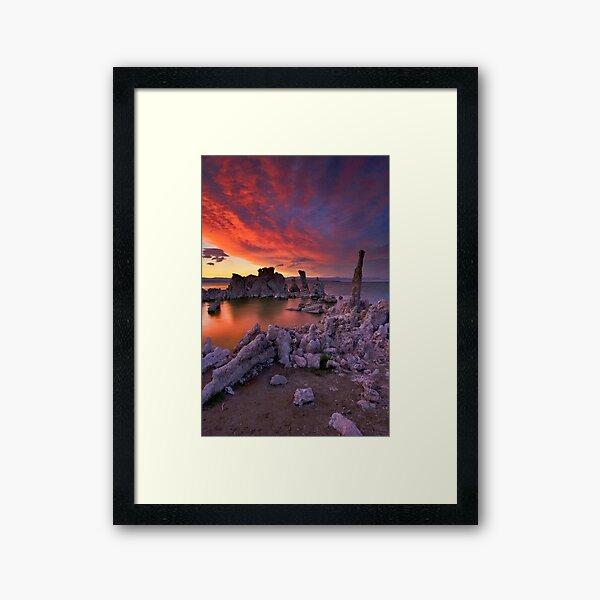 Mono Lake Sierra Wave Sunset Framed Art Print