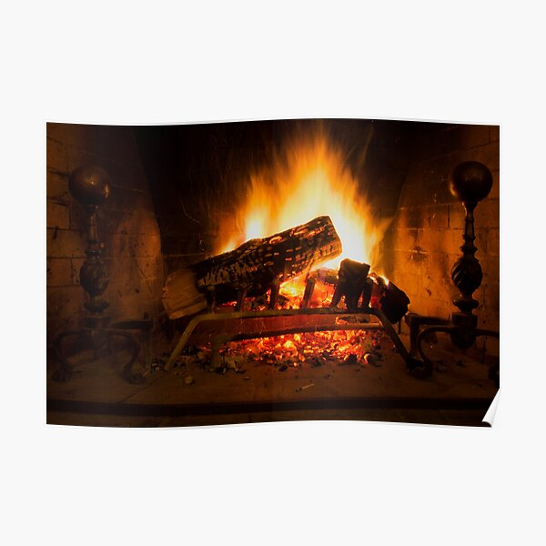 Fireplace Poster