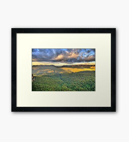 As Far As The Eye Can See - Blue Mountains Worls Heritage Area - The HDR Experience Framed Print