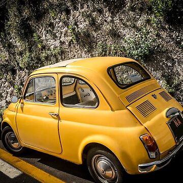 Yellow Italian Antique Car by umeimages