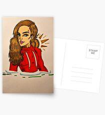 Sportive Girl Postcards