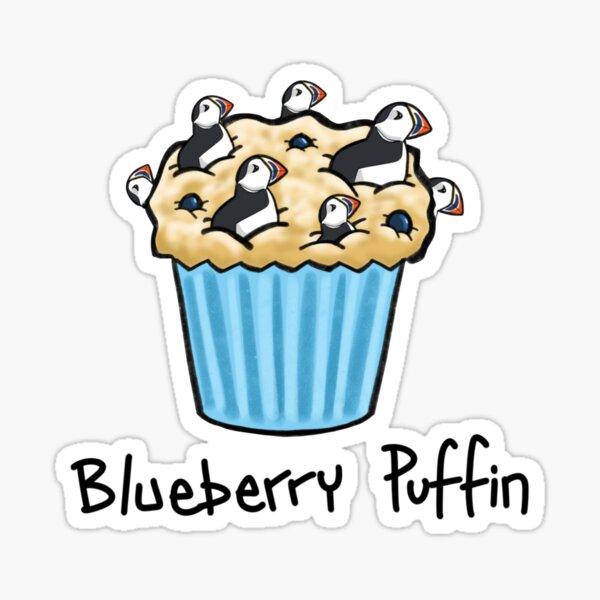 Blueberry Puffin Sticker