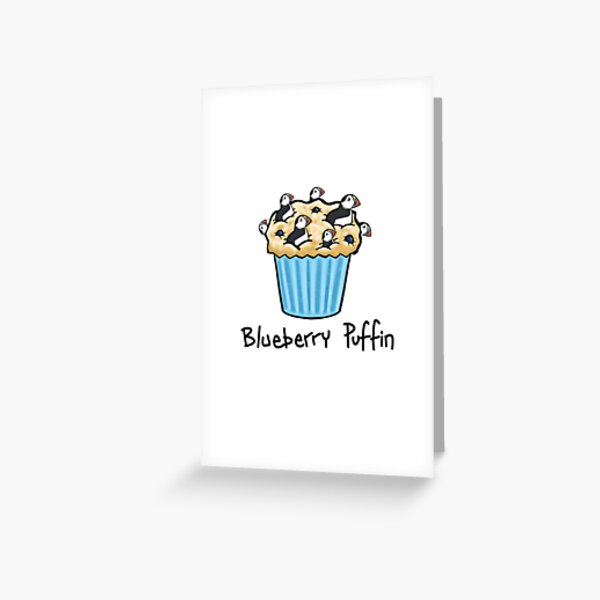 Blueberry Puffin Greeting Card