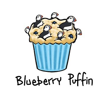 Blueberry Puffin by DocHackenbush