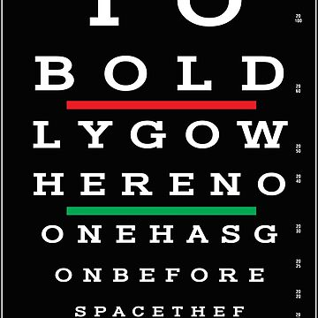 Bold Eye Test by CreativeSpero