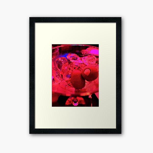 Martini Madness Olive Bliss Framed Art Print